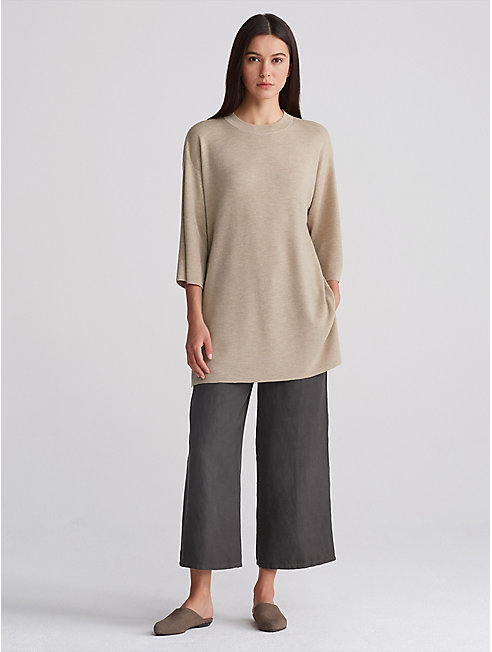 Ultrafine Merino Mock Neck Tunic