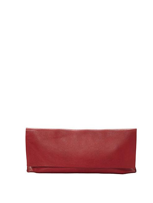 Italian Leather Fold-Over Clutch