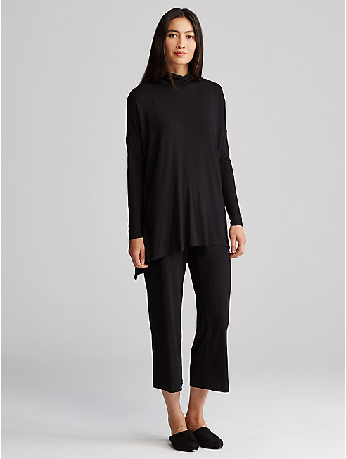Viscose Jersey Straight Cropped Pant