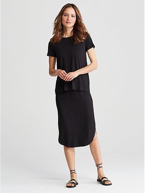 Viscose Jersey Shirttail Skirt