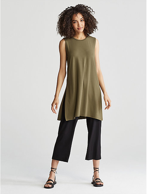 Viscose Jersey Sleeveless Tunic