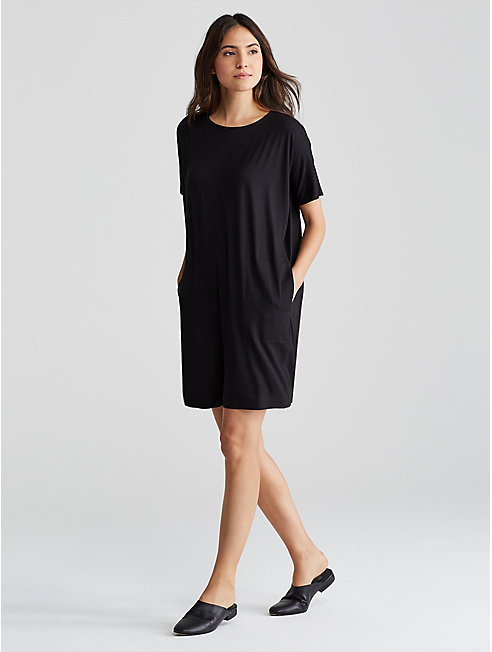 Lightweight Viscose Jersey Boxy Dress