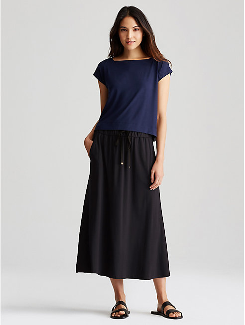 Viscose Jersey Drawstring Skirt