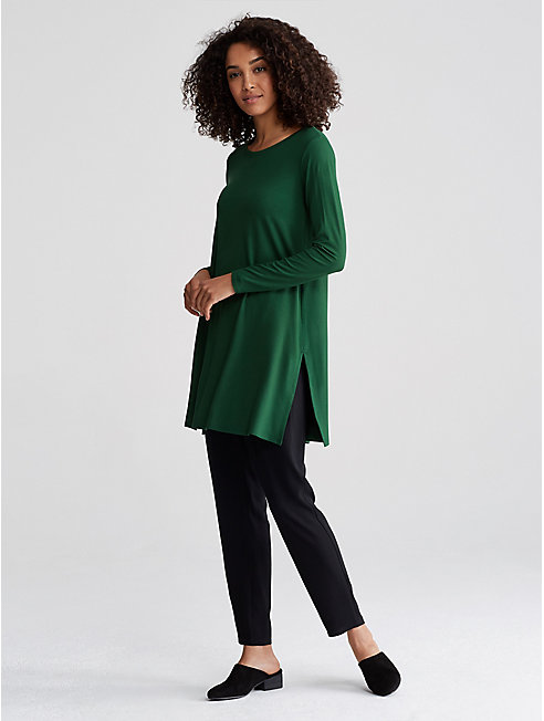 Viscose Jersey Round Neck Tunic