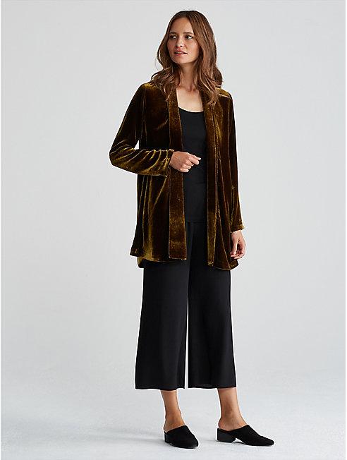 Velvet Shawl Collar Jacket