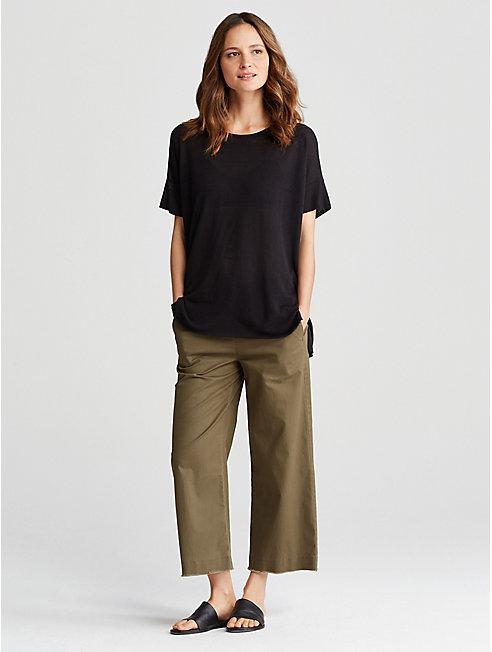 Organic Cotton Tencel Wide-Leg Pant