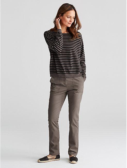 Organic Cotton Tencel Twill Slim Pant
