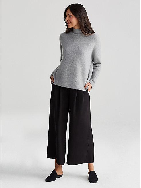 Woven Tencel Wide-Leg Pant