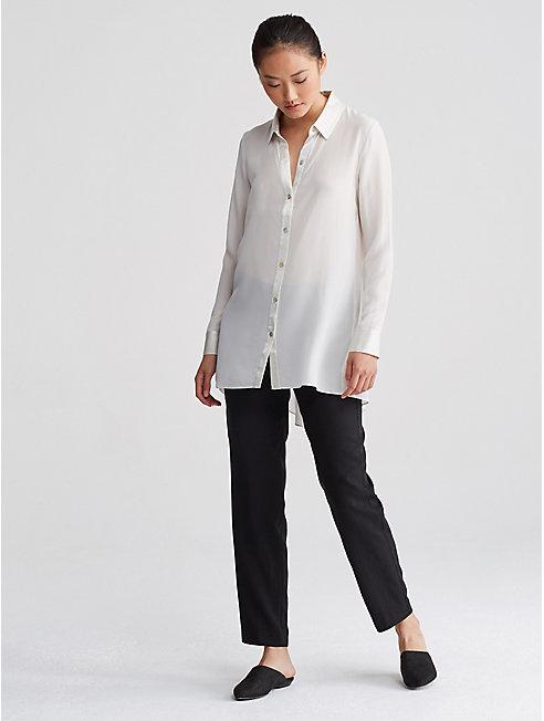 Woven Tencel Straight Trouser