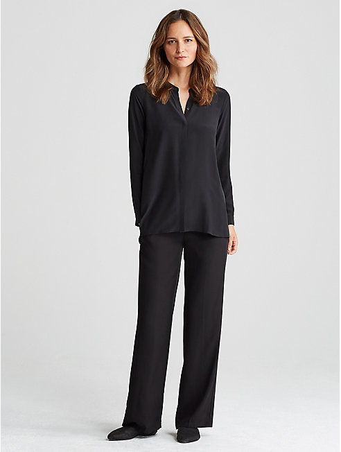 Woven Tencel Straight Pant