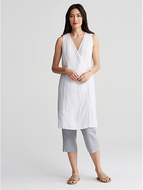Organic Handkerchief Linen Cropped Pant