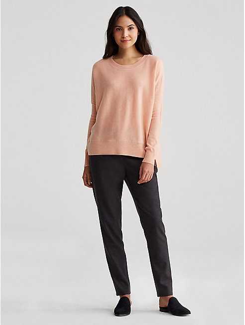 Fine Cashmere Notch Sweater