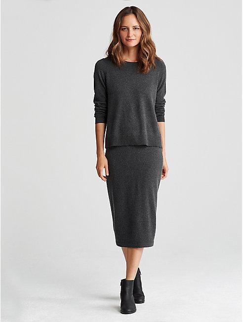 Italian Cashmere Pencil Skirt